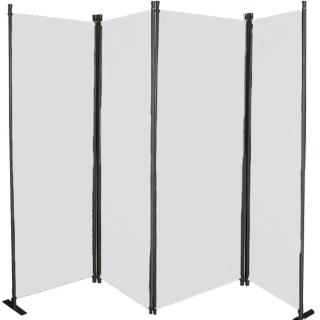 Ersatz Bezug Paravent 4 Teilig 170 x 220 cm Raumteiler Trennwand Sichtschutz Bespannung Weiß