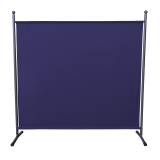 Paravent 180 x 178 cm Fabric Room Devider Garden Partition Wall Balcony Privacy Screen Blue