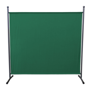 Paravent 180 x 178 cm Fabric Room Devider Garden Partition Wall Balcony Privacy Screen Green