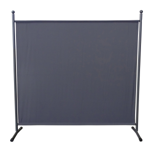Paravent 180 x 178 cm Fabric Room Devider Garden Partition Wall Balcony Privacy Screen Grey