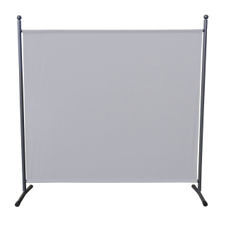 Paravent 180 x 178 cm Fabric Room Devider Garden Partition Wall Balcony Privacy Screen White
