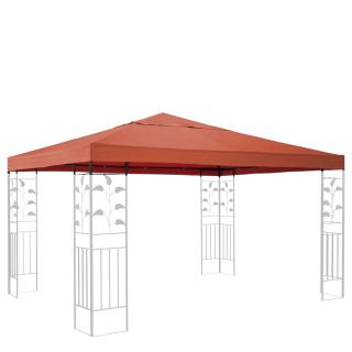 Ersatzdach für Blätter Pavillon 3x3m Pavillondach Terra / Rotorange RAL 2001 Ersatzbezug