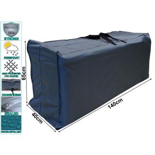 Kissentasche Schutzhülle für 4 Rollliegen / 10 Sessel Auflagen 140x40x65cm