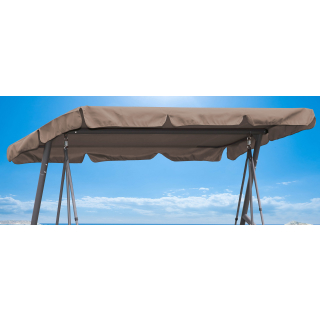 Replacement Roof Garden Swing Brown-Gray UV 50 3 Seater Hollywood Swing Cover