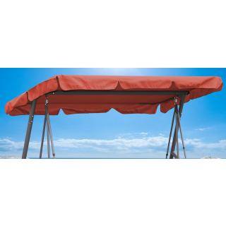 Replacement Roof Garden Swing Orange-Red UV 50 3 Seater Hollywood Swing Cover
