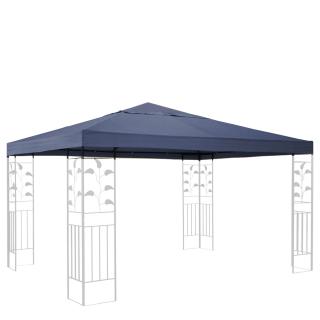 Ersatzdach für Blätter Pavillon 3x3m Pavillondach Grau Ersatzbezug