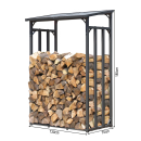Metal firewood rack anthracite 130 x 70 x 185 cm garden firewood shelter 1.6 m³ firewood storage stacking aid outside