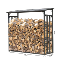 Metal firewood rack anthracite XXL 185 x 70 x 185 cm garden firewood shelter 2.3 m³ firewood storage stacking aid outside