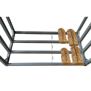 Metal firewood rack anthracite XXL 143 x 70 x 145 cm garden firewood shelter 1.4 m³ firewood storage stacking aid outside