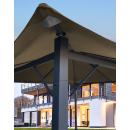 Metall Garten Pavillon Nizza 3x3m Antik Partyzelt Sand mit 4 Seitenteilen