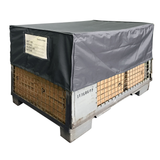 Crate Cover 125x85x50cm Gray Protective cover shipping bag