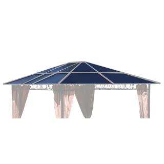 Ersatzdach für Hardtop Pavillon 3x3,6m Doppelstegplatten Polycarbonat Braun