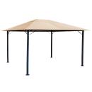 Metall Garten Pavillon Nizza 3x4m Sand mit 4 Seitenteilen Partyzelt