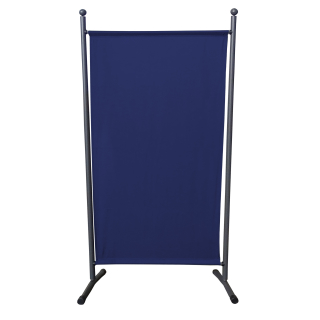 2 Piece Paravent 180 x 78 cm Fabric Room Devider Garden Partition Wall Balcony Privacy Screen Blue