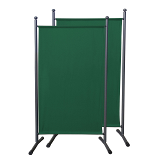2 Piece Paravent 180 x 78 cm Fabric Room Devider Garden Partition Wall Balcony Privacy Screen Green