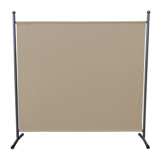 Paravent 180 x 178 cm Fabric Room Devider Garden Partition Wall Balcony Privacy Screen Beige