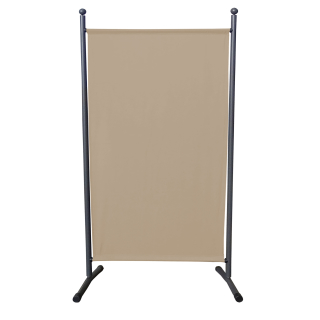 Paravent 180 x 78 cm Fabric Room Devider Garden Partition Wall Balcony Privacy Screen Beige