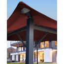 Metall Garten Pavillon Nizza 3x3m Antik Partyzelt Terra / Rotorange RAL 2001 mit 4 Seitenteilen