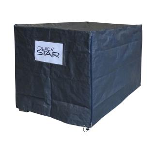 Gitterbox Abdeckung 125x85x95cm Grau PE Gewebefolie Schutzhülle Abdeckplane Versandtasche