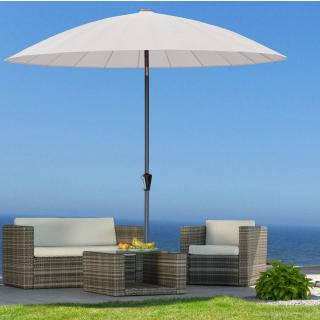 Balkon Sonnenschirm Flexi 270cm Weiß