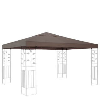 Replacement Roof for Gazebo 3x3m Brown-Gray