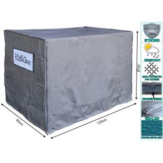 Gitterbox Abdeckung 125x85x87cm Grau Schutzhülle Abdeckplane Versandtasche