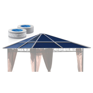 Ersatzdach Hardtop Pavillon 3x3m inkl. Anti Dust Filterbandset