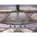 Metall Hardtop Pavillon 3x3m inkl Seitendwandset und Anti Dust Filterband Doppelstegplatten Polycarbonat Garten Dach Partyzelt Pergola