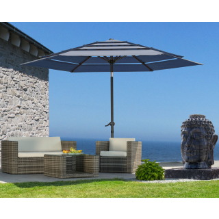 Parasol Air Vent 300cm Grey with protective cover