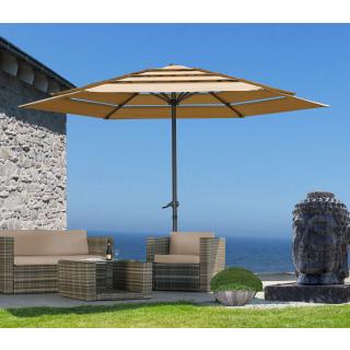Sonnenschirm Air Vent 300cm Sand mit Schutzhülle