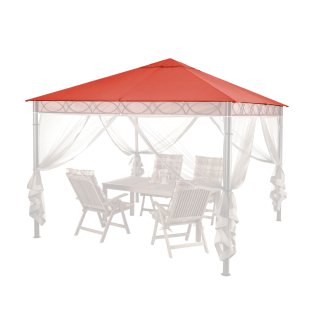 Replacement Roof for Garden Gazebo 3x3m Orange-Red