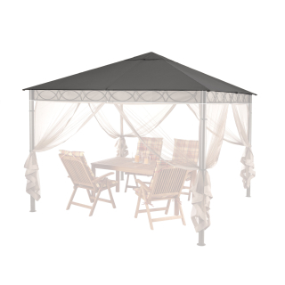 Replacement Roof for Garden Gazebo 3x3m Gray