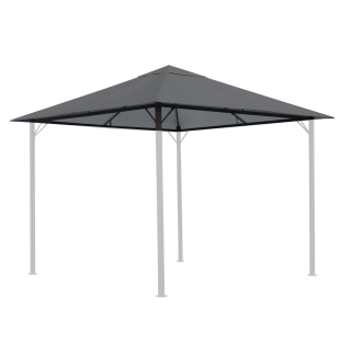Replacement Roof for Garden Gazebo 3x3m 250g/m³ Gray