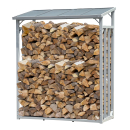 ALUMINIUM firewood rack anthracite 130 x 70 x 185 cm garden firewood shelter 1.6 m³ firewood storage stacking aid outside