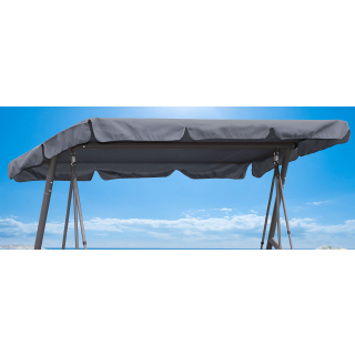 Replacement Roof Garden Swing Gray 145x210cm UV 50 3 Seater Hollywood Swing Cover