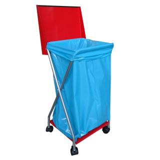 Müllsackständer mit 4 Rollen und 25 Müllsäcken 120 Liter Ständer Müllbeutelhalter Müllsackhalter Abfallbehälter Gelber-Sack