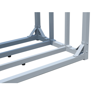 2 Piece ALUMINIUM firewood rack anthracite XXL 185 x 70 x 185 cm garden firewood shelter 4.6 m³ firewood storage stacking aid outside