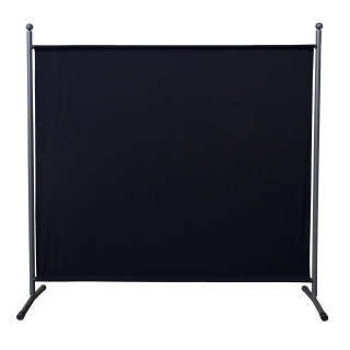 Paravent 180 x 178 cm Fabric Room Devider Garden Partition Wall Balcony Privacy Screen Black