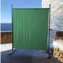 Paravent 150 x 190 cm Fabric Room Devider Garden Partition Wall Balcony Privacy Screen Green