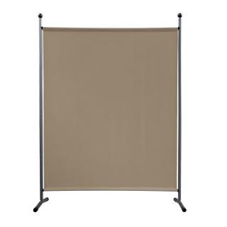 Paravent 150 x 190 cm Stoff Raumteiler Groß Stellwand Trennwand Balkon Sichtschutz Beige