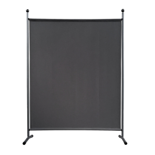Paravent 150 x 190 cm Stoff Raumteiler Groß Stellwand Trennwand Balkon Sichtschutz Grau