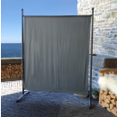 Paravent 150 x 190 cm Fabric Room Devider Garden Partition Wall Balcony Privacy Screen Grey