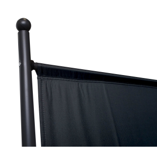 Paravent 150 x 190 cm Fabric Room Devider Garden Partition Wall Balcony Privacy Screen Black