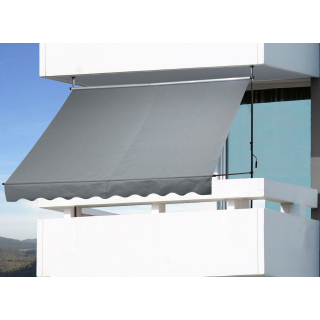 Clamp Awning Balcony Sunshade Telescopic Canopy 250x130cm No Drilling Retractable & Adjustable Color: Grey