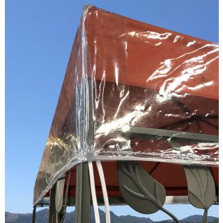 Pavillon Schutzhaube 3x3m  für Doppeldach Wasserdicht Transparent