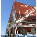 Gazebo Protective Cover 3 x 3 m Waterproof Transparent Double Roof Weather Protection
