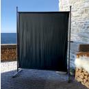 2 Piece Paravent 150 x 190 cm Fabric Room Devider Garden Partition Wall Balcony Privacy Screen Black