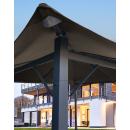 Metall Garten Pavillon Nizza 3x3m Antik Partyzelt Taupe RAL 7006  mit 4 Seitenteilen