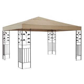 Garten Blätter Pavillon 3x3m Sand Partyzelt Metall Carport