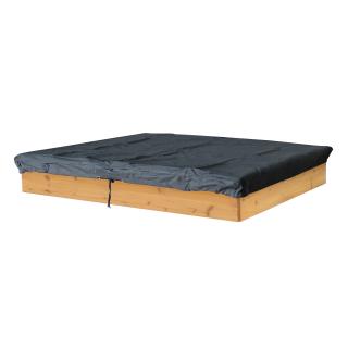 Sandkasten Abdeckung 150x150cm Schutzhülle Wasserdicht Quadratisch Rechteckig Grau